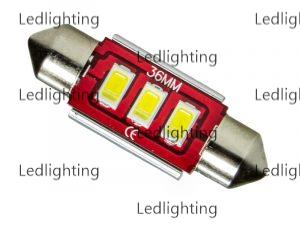 c5w led 36mm blanc rouge voiture camion